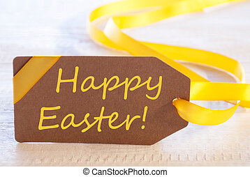 Label With Text Happy Easter