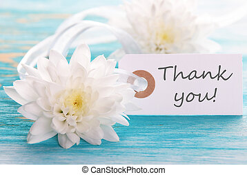 Label with Thank You on It