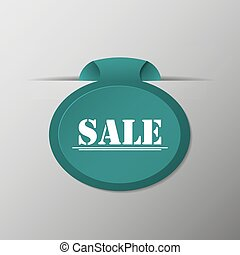 Label with the word Sale on a gray background