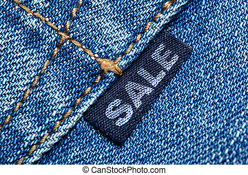 Label with word SALE