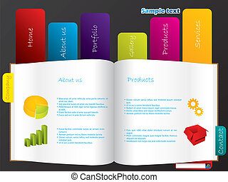 Labeled book web template