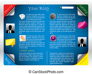 Labeled Website template 2