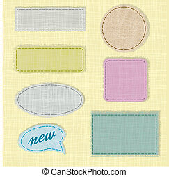 labels and fabric labels with space for text