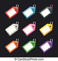 Labels and price tags set. Flat design. Vector illustration
