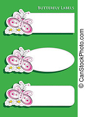 Labels for kids with butterfly