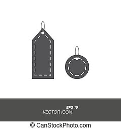 Labels icon in flat style isolated on white background.