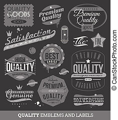 Labels of quality and guaranteed