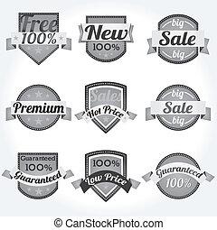 Labels Satisfaction retro design
