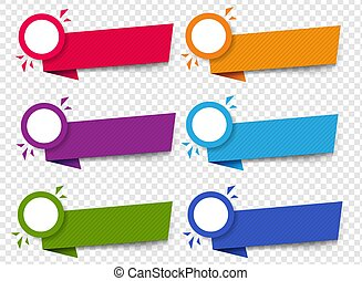 Labels Set Isolated Transparent Background