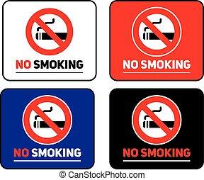 Labels set No smoking stickers