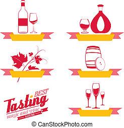 Labels set of drinks for restaurant and cafe.