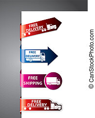 label/stickers, gratuite, expédition