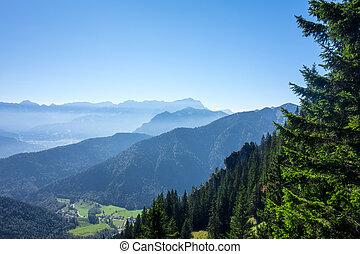 laber, vista, montaña