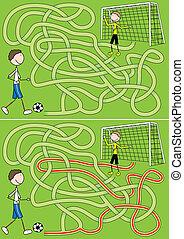 laberinto, fútbol