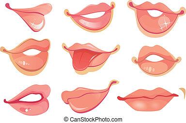 labios, conjunto