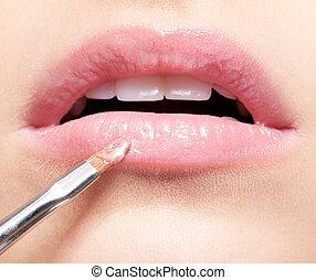 labios, maquillaje