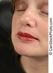 labios rojos, cicatrizarse