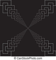 labirinth, chaînes, perspective