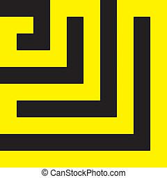 labirinth, noir, spyral, jaune