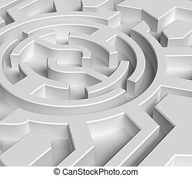 labirinto, 3d, conceito