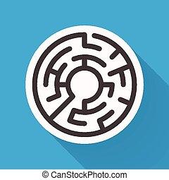 labirinto, atraente, circular