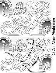 labirinto, cantina