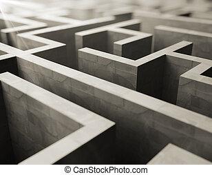 labirinto, cinzento