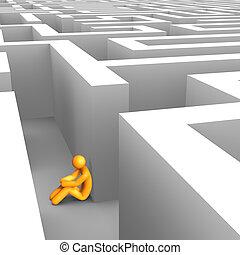 labirinto, desesperado