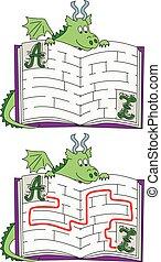 labirinto, fácil, dragão
