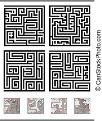 labirinto, gioco, set