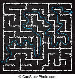 labirinto, ilustração