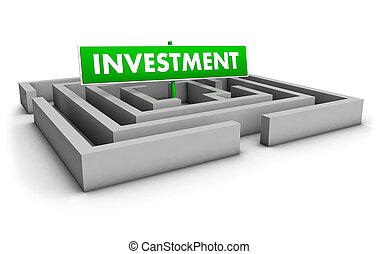 labirinto, investimento