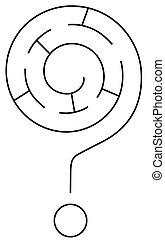 labirinto, marca pergunta
