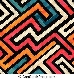 labirinto, modello, luminoso, seamless