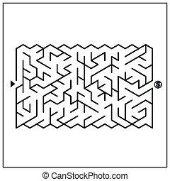 labirinto, modernos, atraente