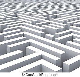 labirinto, problema, ou, complexidade, mostra