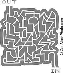 labirinto, saída, saída