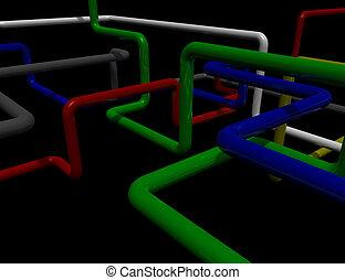 labirinto, tubi per condutture