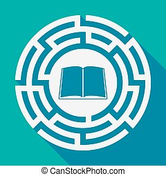labirinto, uggia, libro, lungo