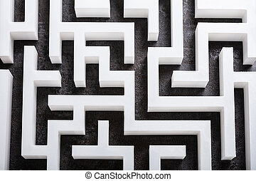 labirinto, vista elevata
