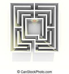labirinto, vista superiore