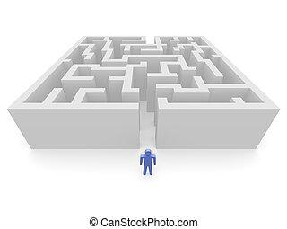 labirintus, ember