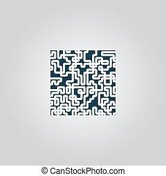 labirynt, zagadka, rebus, ikona
