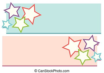 Lable design with stars