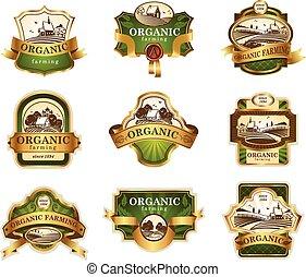 lables, agriculture, organique