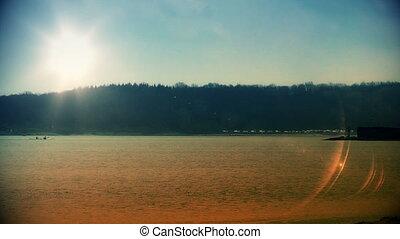 laboe, latarnia morska, zachód słońca