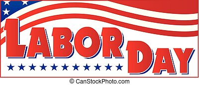 Labor Day Banner USA