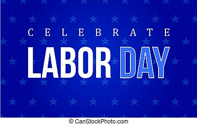 Labor day background collection style