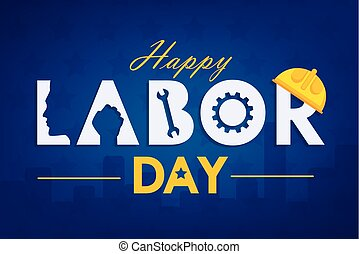 Labor day background design vector template graphic or ...