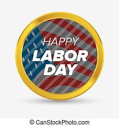 Labor day badge